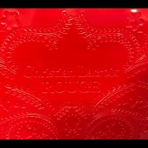 NEW Christian Lacroix Red Patent Cosmetic Bag